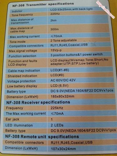 Máy test dây mạng NF308 chính hãng giá tốt