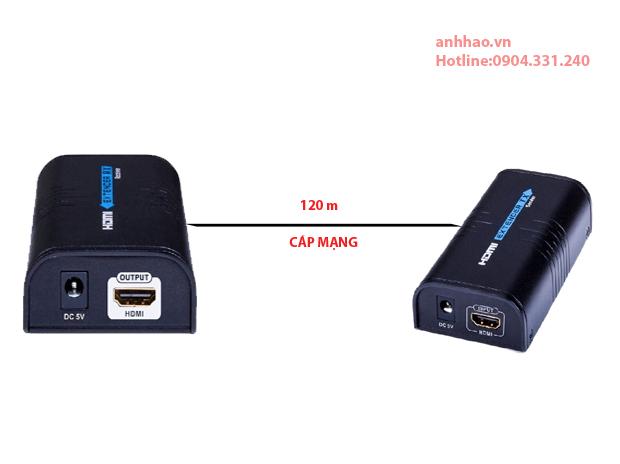 Bộ HDMI to LAN 100-120m Lengkeng LKV373A