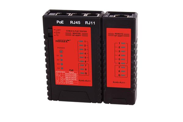 Máy test mạng  Rj45, RJ11, POE  NF468PT