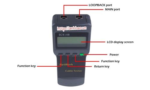 Máy test mạng SC8108 dùng để kiểm tra RJ45, RJ11 chính hãng