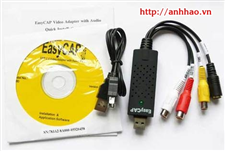 Easycap USB 2.0 (cáp thu dữ liệu  từ máy quay, camera, TV vào máy tính)