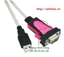 USB 2.0 to RS232 cable Z-tek ZE533C (cáp chuyển đổi USB sang com Ztek)